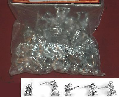 Old Glory AWI-27 Continental Firing Line Hat with Command (30) 25mm Miniatures