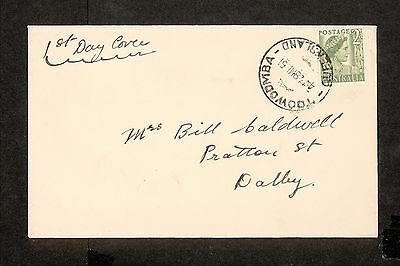 FDC 1951   2d Green Queen First Day Cover ADDRESSED Toowoomba (4411.63)