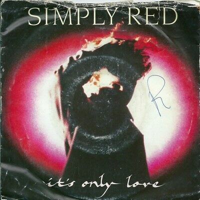 "Simply Red - It's Only Love - 7"" Vinyl Picture Sleeve 1989 Wea"