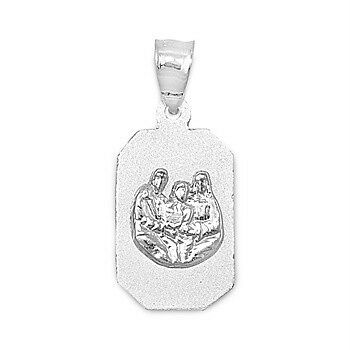 Sterling Silver Holy Trinity Pendant Father Son Holy Spirit Christian Charm 925