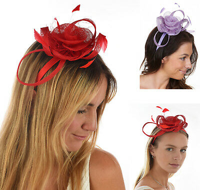 1 Racing Spring Carnival Melbourne Cup Race Church Feather Fascinator Headband