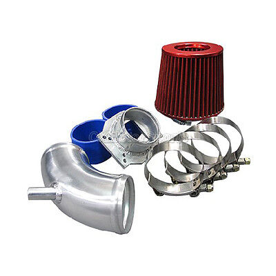 Cxracing Flange Cold Air Intake Pipe kit FOR BMW E30 MAF With Black Hose