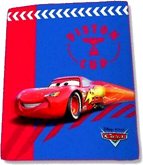 DISNEY FLEECEDECKE DECKE CARS LIGHTENING Mc QUEEN PISTON CUP zur BETTWÄSCHE -NEU