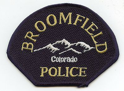 BROOMFIELD COLORADO CO mountains POLICE PATCH