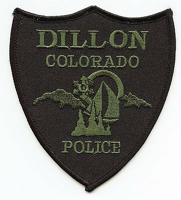 DILLON COLORADO CO subdued POLICE PATCH