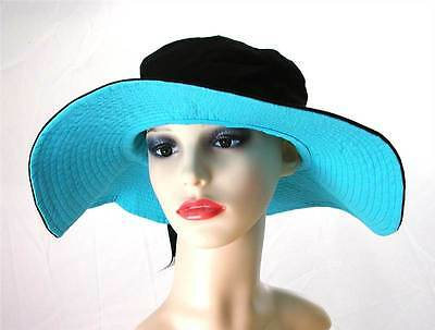 Pia Rossini Puerto Cotton Sun Hat Bow Trim Ladies Classic Summer Black//Stone