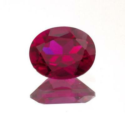 (5x3mm - 20x15mm) Oval AAA Lab Created Ruby