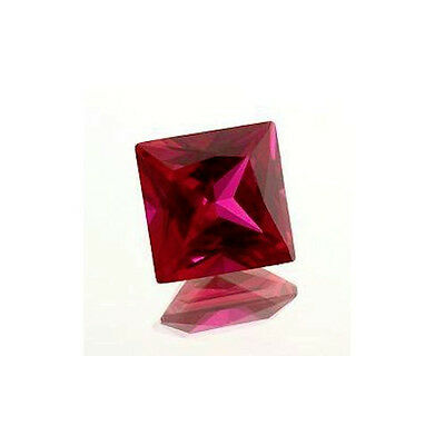 (2mm - 15mm) Princess/Square Shape AAA Lab Created Ruby