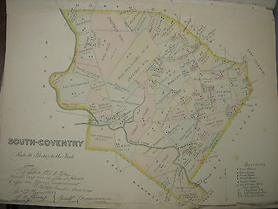 South-Coventry, Chester County Pa 1883 Genuine Antique Map