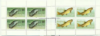 PESCI D'ACQUA DOLCE -  FRESH WATER FISHES DDR 1987 sheetlets