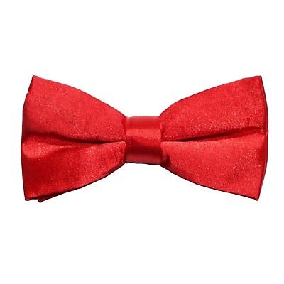 HOT RED Pretied Pre Tied Boys Girls Bow Tie Adjustable Wedding Prom Dickie