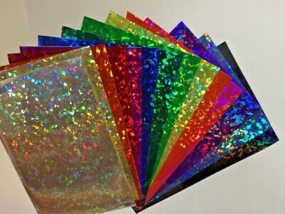 Holographic Crystal Sign Vinyl, Pick your size and color, HoloCrystal Confetti