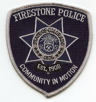 FIRESTONE COLORADO CO Community in Motion POLICE PATCH
