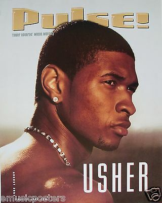 "USHER ""PULSE 2001"" U.S. PROMO POSTER -R&B/Soul/Pop/Dance Music"