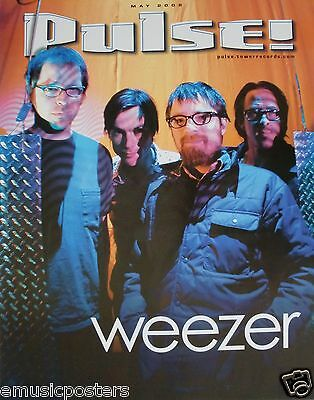 "WEEZER ""PULSE MAY 2002"" U.S. PROMO POSTER -Alternative Rock Music"