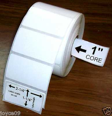 2.25x1.25 6 Rolls Direct Thermal Premium Top Coated  Labels for Zebra & Others