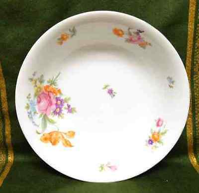 LARGE FLORAL SERVING BOWL * KPM GERMANY * ROSES DAISIES VIOLETS * 9 1/2""