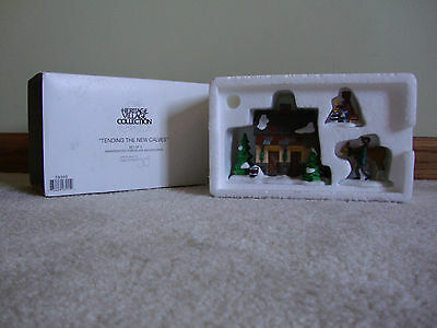 "Dept. 56 Dickens Village ""Tending the New Calves"" - MIB #58395"