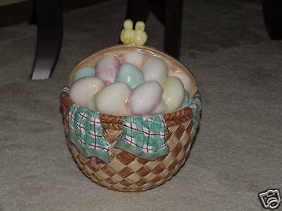 Easter Egg Cookie Jar by Gibson Housewares - MINT