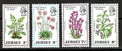 TEMA FLORES. JERSEY 1972 55/58 WILD FLOWERS OF JERSEY.FLORES 4v.