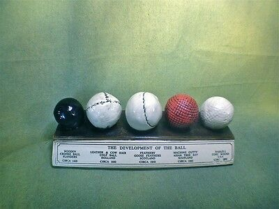 History of the Golf Ball Display Desk Plaque, Very Highly Detailed, Must Have