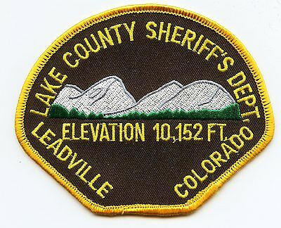 old vintage LAKE COUNTY COLORADO CO Elevation 10,152 Feet SHERIFF POLICE PATCH