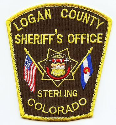 LOGAN COUNTY COLORADO CO state flag SHERIFF POLICE PATCH