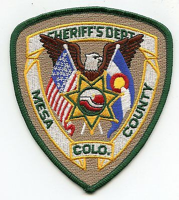 MESA COUNTY COLORADO CO state flag SHERIFF POLICE PATCH