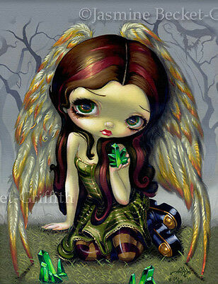 Angel with Emeralds Jasmine Becket-Griffith CANVAS PRINT big eyed fairy art CUTE