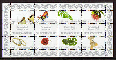 New Zealand 2012 Personalised Stamps Sheetlet 8 Unmounted  Mint, Mnh