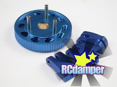 Aluminum Engine Fly Wheel & 7075 Clutch Shoe B Monster Gt Mgt Thunder Tiger Mta4
