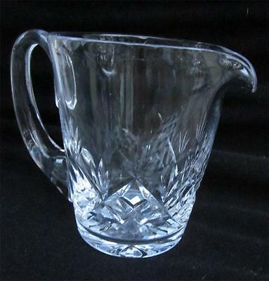 EDINBURGH Cut Crystal Glass Creamer or Small Pitcher Scotland Elegant
