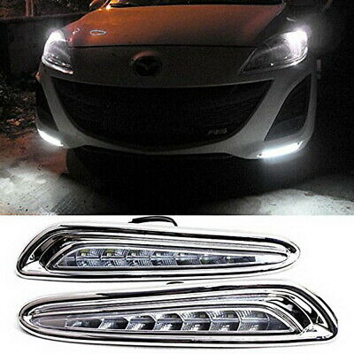 High Power Exact Fit LED Daytime Running Lights Lamps For 2010-2013 Mazda3