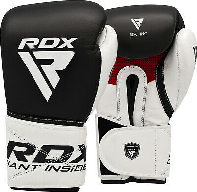 RDX Boxing Kick boxing Gloves Fighting Muay Thai Cowhide Leather Punching