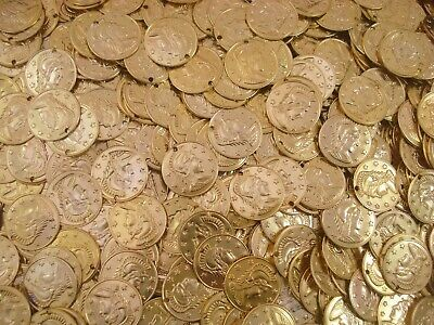 Belly Dancing Coins Gold 16mm Pack of 50 Costume Dancewear FREE POSTAGE