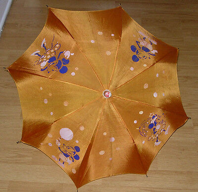 Early Mickey And Minnie Mouse Umbrella  C. 1930'S Walt Disney Enterprises