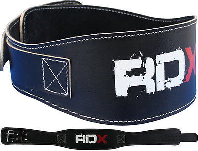 "RDX Weight Lifting 5.5"" Leather Pro Belt Back Support Strap Gym Training Fitness"