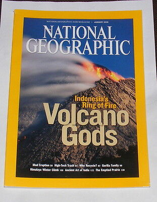 National Geographic Magazine January 2008 - Volcano Gods