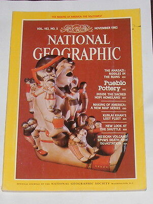 National Geographic Magazine November 1982 - Pueblo Pottery