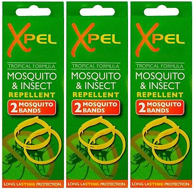 3 x 2 Pack Xpel Mosquito & Insect Repellent Bands