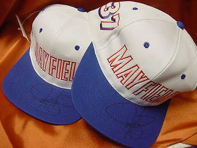 Jeremy Mayfield #37 Cap / Hat - autographed  New w/tags  (blue bill)