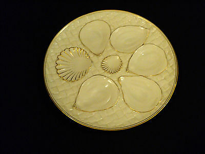"""Antique Royal Worcester 8"""" Embossed 5-Well Oyster Plate, Octagonal Shape"""