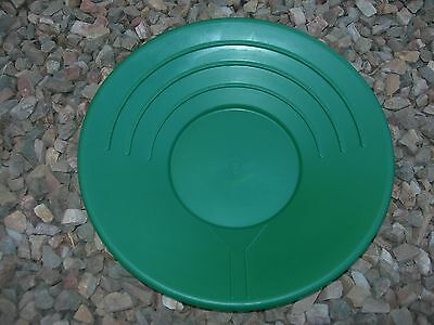 "Gold Pans Set of 2 Panning 10"" &14"" High Impact Plastic GREEN Prospecting Mining"