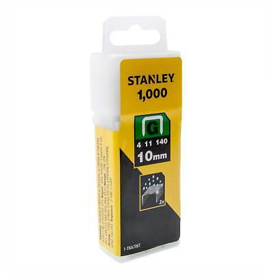 Pack of 1000 Heavy Duty 10mm Stanley Staples Type G, 4, 11, or 140