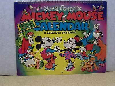 Micky Mouse Glows-In-The-Dark Calendar 1981 (USA)