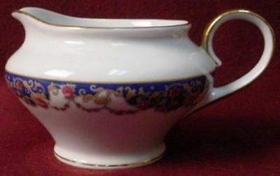 ROYAL BAYREUTH china ROB2 Blue Border pattern CREAMER cream pitcher JUG
