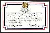 White house anniversary card 1989 signed facsimile president george happy anniversary card from the white house the reagans m4hsunfo Images