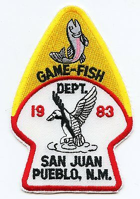 SAN JUAN PUEBLO NEW MEXICO NM TRIBAL GAME AND FISH police PATCH