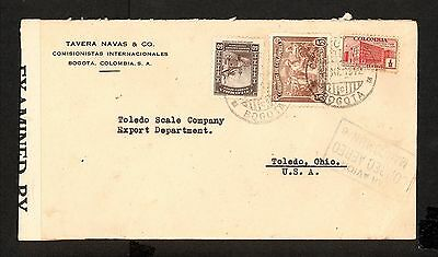 PH4842 1943 Military Postal History WWII Ecuador to United States