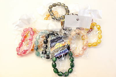 NEW Wholesale Job Lot 24 Pcs Buddha Large Bead Bracelets All Retail Packed